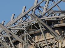 Detalhe abstrato do estádio do parque GAA de Croke, Dublin, Irlanda foto de stock