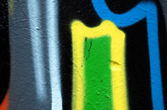 Detalhe abstrato dos grafittis Fotografia de Stock