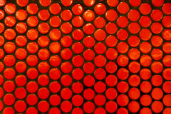 Detalhe alaranjado Archi da textura de Dot Pattern Wall Train Station da polca fotografia de stock royalty free
