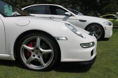 Detalhe alemão moderno da parte dianteira do carro de esportes fotografia de stock royalty free