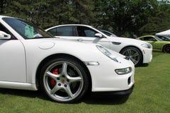 Detalhe alemão moderno da parte dianteira do carro de esportes fotos de stock royalty free