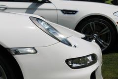 Detalhe alemão moderno da parte dianteira do carro de esportes Fotos de Stock