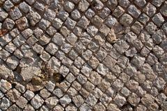 Detalhe antigo de Roman Wall, o reticulatum assim chamado do opus imagens de stock