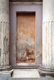 Detalhe arquitectónico com colunas foto de stock royalty free