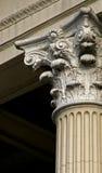 Detalhe arquitectónico da coluna fotografia de stock