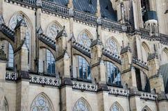 Detalhe arquitectónico dos DOM de Neuer em Linz, Upper Austria Imagem de Stock Royalty Free