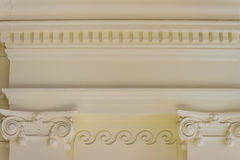Detalhe arquitetónico bonito do colo Grego-romano dos estilos do vintage Foto de Stock