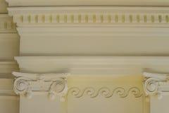 Detalhe arquitetónico bonito do colo Grego-romano dos estilos do vintage Imagem de Stock