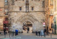 Detalhe arquitetónico da porta de Cailhau no Bordéus Fotos de Stock Royalty Free