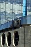 Detalhe arquitetónico de arranha-céus urbanos Fotografia de Stock Royalty Free