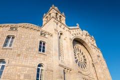 Detalhe arquitetónico de basílica de Santa Luzia em Viana do Castelo imagem de stock