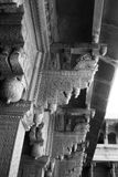 Detalhe arquitetónico de coluna no forte de Agra Fotografia de Stock