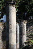 Detalhe arquitetónico de colunas antigas de Pompeia Fotografia de Stock Royalty Free
