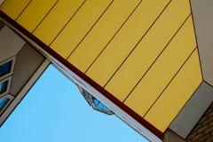 Detalhe arquitetónico de Kubuswoning em Rotterdam Fotos de Stock Royalty Free