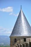 Detalhe arquitetónico de um telhado da fortaleza imagens de stock