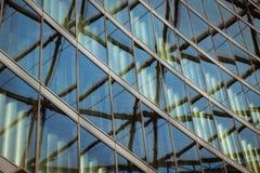 Detalhe arquitetónico de uma construção moderna Imagem de Stock