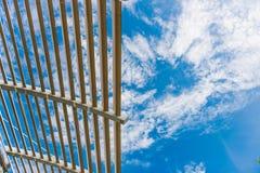 Detalhe arquitetónico de uma construção moderna Foto de Stock Royalty Free
