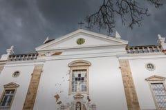 Detalhe arquitetónico do católico Chur de Igreja a Dinamarca Misericordia imagem de stock royalty free