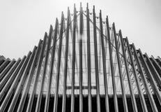 Detalhe arquitetónico do estação de caminhos-de-ferro de alta velocidade de Mediopadana em Reggio Emilia, Itália foto de stock