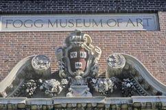 Detalhe arquitetónico do Fogg Art Museum, Cambridge, Massachusetts foto de stock