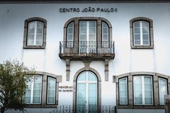 Detalhe arquitetónico do santuário de nossa senhora do memorial de Sameiro perto de Braga foto de stock