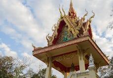 Detalhe arquitetónico em um templo de budistas Fotografia de Stock Royalty Free