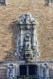 Detalhe arquitetónico no mercado central, Bruges fotografia de stock royalty free