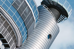 Detalhe arquitetónico de uma construção moderna em Hamburgo Fotos de Stock Royalty Free
