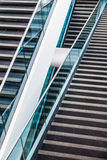 Detalhe arquitetónico moderno da escadaria Foto de Stock