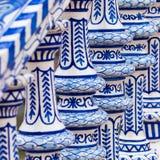 Detalhe azul da balaustrada de Plaza de Espana em Sevilha, a Andaluzia, Sp Fotos de Stock Royalty Free