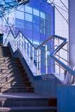 Detalhe azul do sumário do edifício Imagens de Stock