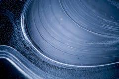 Detalhe azul do teste padrão do gelo Fotos de Stock Royalty Free
