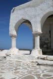 Detalhe bizantino da igreja - console de Paros, Greece Imagens de Stock