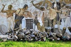 Detalhe bonito de arte da rua, quintilha jocosa, a cidade deste ano de cultura, queda, 2014 Imagem de Stock