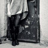Detalhe bonito de uma menina exterior Imagens de Stock