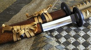 Detalhe cerimonial da espada Fotografia de Stock Royalty Free