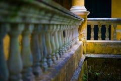 Detalhe colonial português da arquitetura Fotos de Stock Royalty Free