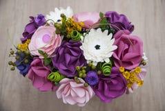 Detalhe colorido das flores de papel Fotos de Stock Royalty Free