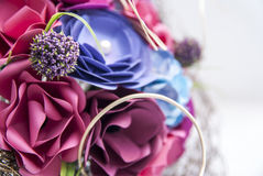 Detalhe colorido das flores de papel Fotografia de Stock Royalty Free