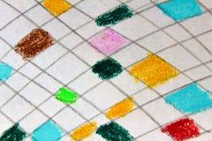 Detalhe colorido de papel do desenho imagem de stock