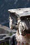 Detalhe - coluna iónica grega foto de stock royalty free
