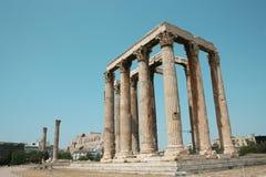 Detalhe - coluna iónica grega Fotografia de Stock Royalty Free