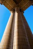 Detalhe com as colunas do panteão em Paris Imagens de Stock Royalty Free