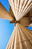 Detalhe com as colunas do panteão em Paris Fotos de Stock Royalty Free