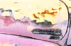 Detalhe cor-de-rosa do caminhão Imagens de Stock