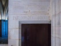 Detalhe, d'Armes do Gens do DES de Salle, Conciergerie, Paris, França Imagens de Stock