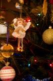 Detalhe da árvore de Natal fotos de stock royalty free