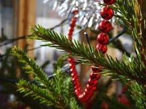 Detalhe da árvore de Natal Fotografia de Stock Royalty Free