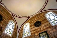 Detalhe da abóbada de mesquita de Selimiye do interior, Edirne, Turquia foto de stock
