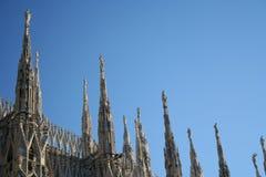Detalhe da abóbada de Milão Fotos de Stock Royalty Free
